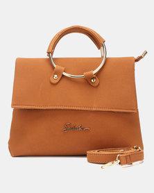Seduction Ring Handle CrossBoyd Bag TAN