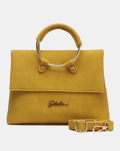 Seduction Ring Handle CrossBoyd Bag MUSTARD