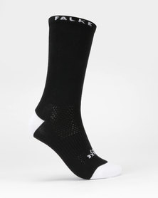 Falke Performance Falke Limited Edition Plain Crew Unisex Socks Black & White
