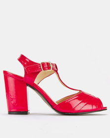 Franco Ceccato Block Heeled Sandals Red