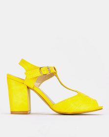 Franco Ceccato Block Heeled Sandals Yellow