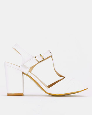 Franco Ceccato Block Heeled Sandals White