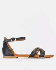 Franco Ceccato Ankle Strap Sandals Black