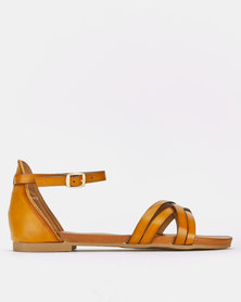 Franco Ceccato Ankle Strap Sandals Brown