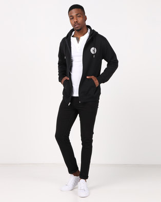 DC Rebel Zip Hoodie Sweater Black