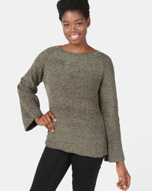 G Couture Chenille Jumper Olive