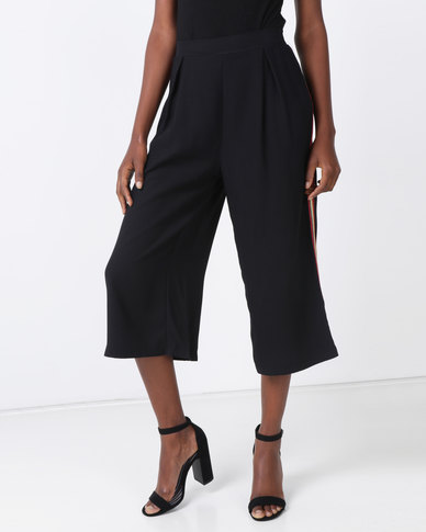 G Couture Colour Side Stripe Pull on Pants Black