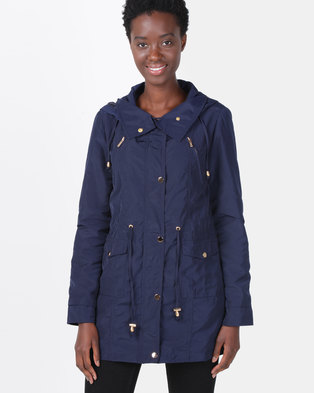 G Couture Parka Jacket Navy