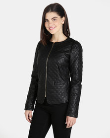 G Couture PU Blazer Black