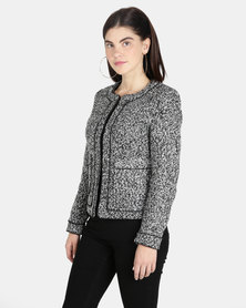 G Couture Boucle Blazer Dark Grey Melange