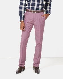 Jonathan D Flat Front Tailored Fit Formal Trousers Mauve