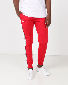 Kappa 222 Banda Arib Slim Pants Red