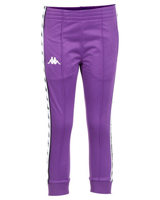 Kappa 222 Youths Banda Arib Slim Pants Violet/Black