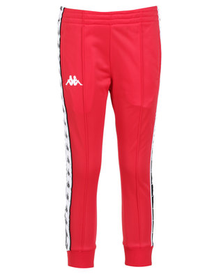Kappa 222 Banda Youths Arib Slim Pants Red