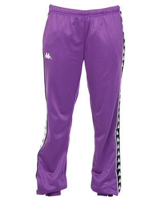 Kappa Ladies 222 Banda Wrastoria SF Pants Violet/Black/White