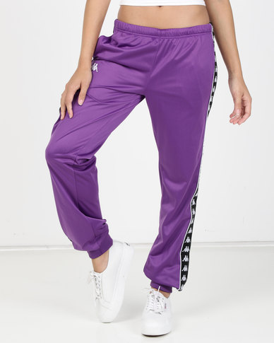 Kappa Ladies 222 Banda Wrastoria SF Pants Violet/Black/White