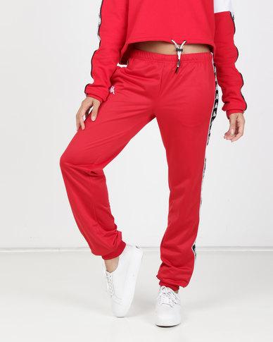 Kappa Ladies 222 Banda Wrastoria SF Pants Red/Black