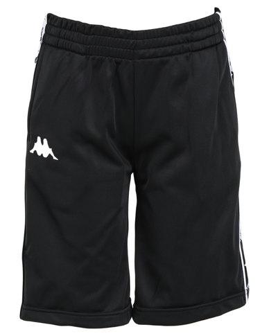Kappa Youths 222 Banda Treadwell Shorts Black/White