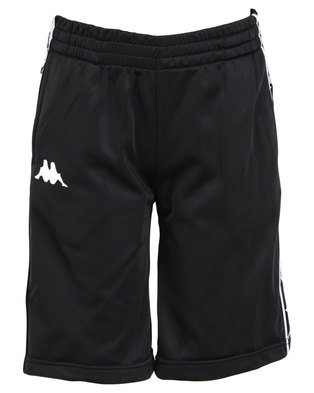Kappa Youths 222 Banda Treadwell Shorts Black/White
