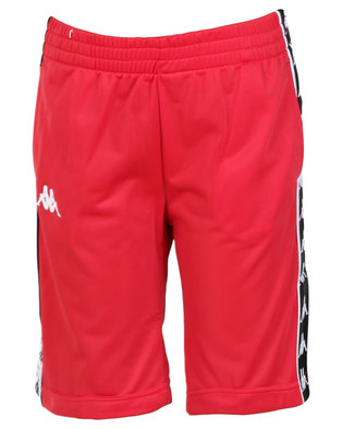 Kappa Youth 222 Banda Treadwell Shorts Red/Black