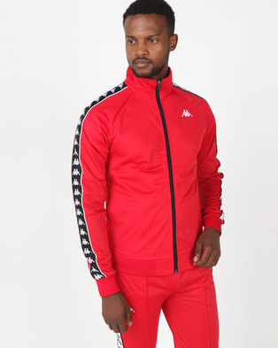 Kappa 222 Banda Anniston Slim Red/Black/White