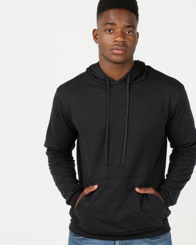 Utopia Basic Fleece Hooded Sweatshirt Black