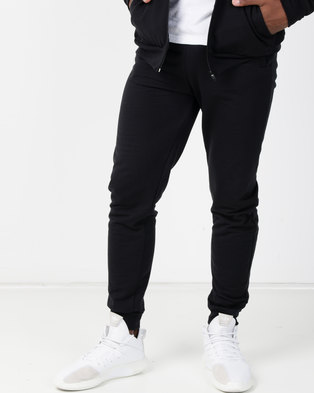 01ff51ae6291a9 Utopia Basic Fleece Joggers Black