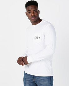 RVCA Howzit Long Sleeve Pocket Tee White