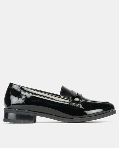 Pierre Cardin Patent Loafer Shoes Black