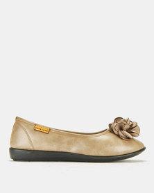 Pierre Cardin Super Comfort Flower Pumps Stone