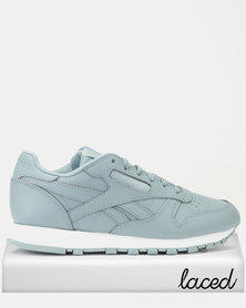 Reebok Classics Leather Sneakers Mid Teal Fog/White