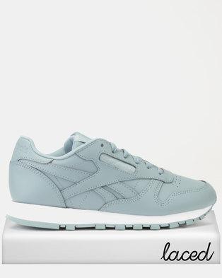 c066b1744c2 Reebok Classics Leather Sneakers Mid Teal Fog White
