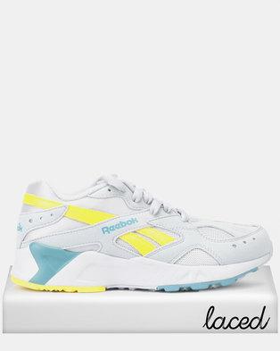 eac86c83288 Reebok Aztrek Mid Sneakers Bright Pop-Cold Grey 2 Mineral Mist Yellow