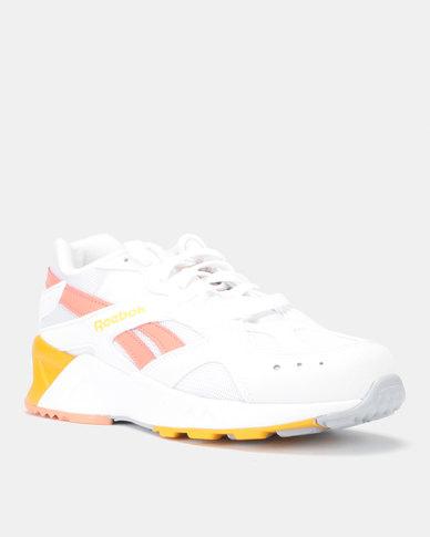 c2b37c7fdf8 Reebok Aztrek Sneakers Mid Bright Pop White Stellar Pink TR Gold Grey