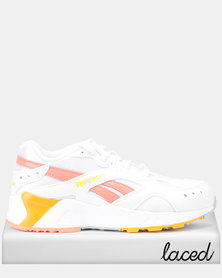 Reebok Aztrek Sneakers Mid Bright Pop White/Stellar Pink/TR Gold/Grey