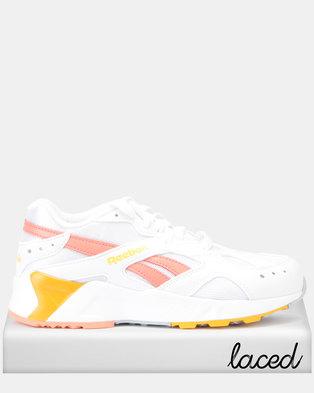 0457b14e7f0c7 Reebok Aztrek Sneakers Mid Bright Pop White Stellar Pink TR Gold Grey
