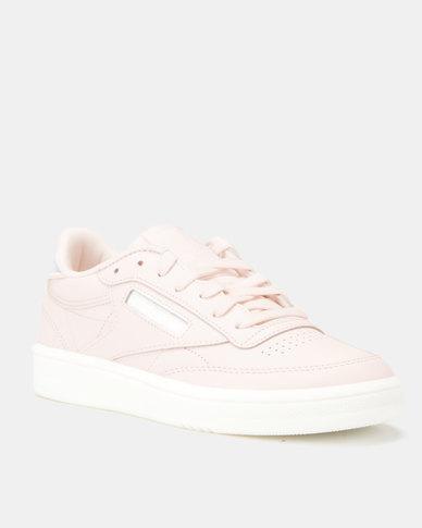 99ac19a73a5 Reebok Club C 85 Mid Sneakers Wow-Pale Pink White