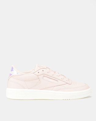 7d8d29444cdb Reebok Club C 85 Mid Sneakers Wow-Pale Pink White
