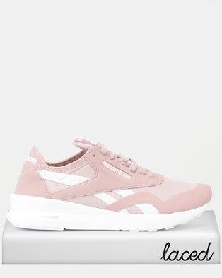 d67a9d5e762f1 Reebok Classic Nylon Mid Clean Sneakers Smoky Rose White