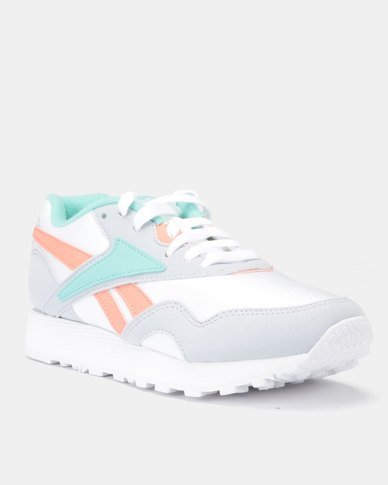 Reebok Classics Rapide SYN Mid 90s Sneakers White/Cloud Grey/Emerald Sea/Stel Pink