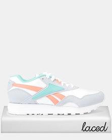 Reebok Classics Rapide SYN Mid 90s Sneakers White/Cloud Grey/Emerald Sea/Stel Pink