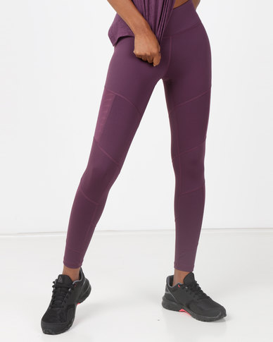 23725b83dea945 Reebok Performance D Mesh Tights Purple | Zando