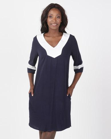 Maya Prass Bronte Tunic Dress Navy