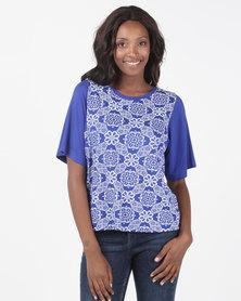 Maya Prass Oceana Boxy T-Shirt Cobalt