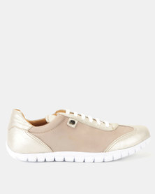Tsonga Leather Megange Sneakers Gravel Vintage & Bark Domus