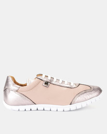 Tsonga Leather Megange Sneakers Medusa Cayak & Antique Metal Grain