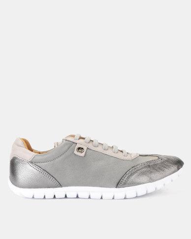 Tsonga Leather Megange Sneakers Highrise Vintage & Anthracite Metal Grain