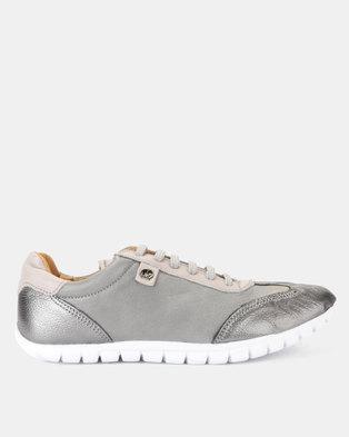 d3d8c8e40f Tsonga Leather Megange Sneakers Highrise Vintage   Anthracite Metal Grain