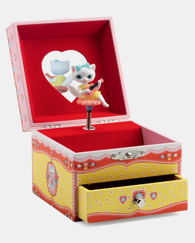Djeco Wooden Musical Jewellery Box - Cats Song