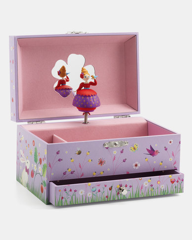 Djeco Wooden Musical Jewellery Box - Princess Melody